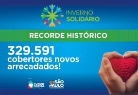 Campanha Inverno Solidário 2020 tem recorde histórico de arrecadação