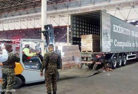 8° Batalhão Polícia do Exército e Exércitocolaboram na logística das doações de cestas básicas