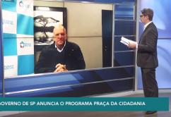 """Fernando Chucre faz uma explanação do programa """"Praça da Cidadania"""" para a TV ALESP"""